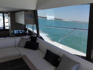 Views from a Prestige 590 sailing in France
